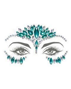 Mermaid Face Gems – Turquoise/Iridescent