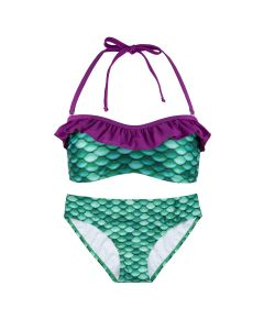 Green Purple Mermaid Scale Bikini Set