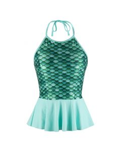 Celtic Green Peplum Tankini Top