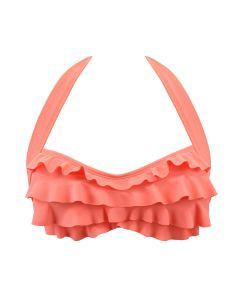 A coral sea wave bikini top for swimming