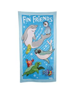 Fin Friends Beach Towel