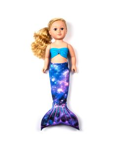 a lunar galaxy mermaid tail set for a large doll