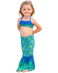 Aussie Green Toddler Tail & Bandeau Set
