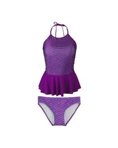 Asian Magenta Peplum Tankini Set