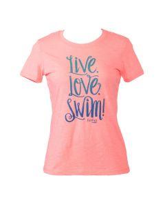 Life Love Swim Pink Tee