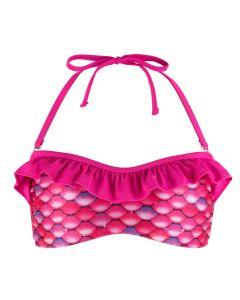 Malibu Pink Bandeau Bikini Top