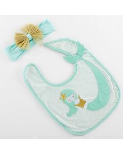 Simply Enchanted Mermaid Bib and Headband Set