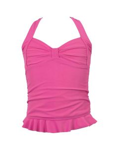 Pink Clamshell Tankini Top