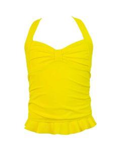Yellow Clamshell Tankini Top