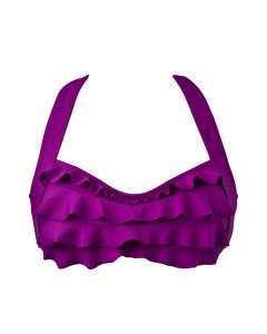 Grape Purple Sea Wave Bikini Top
