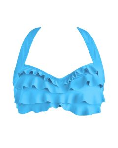 a light blue sea wave bikini top