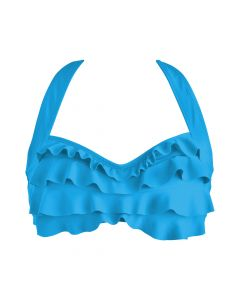 Blue Sea Wave Bikini Top
