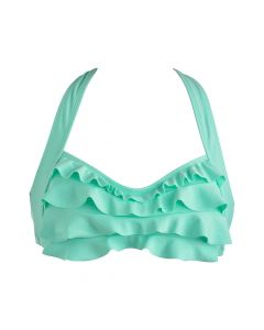 Mint Green Sea Wave Bikini Top