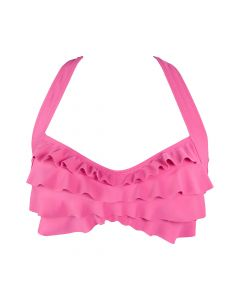 Pink Sea Wave Bikini Top