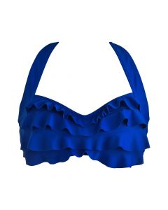 Royal Blue Sea Wave Bikini Top