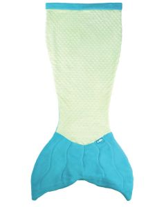 Premium Minky Dot Cuddle Tails Mermaid Tail Blanket in Aquamarine