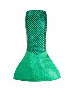 a costume green sparkly mermaid tail that you can walk in