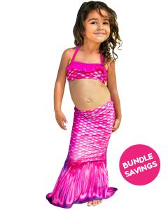 Malibu Pink Toddler Tail & Bandeau Set