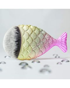Mermaid Tail Makeup Brush – Pastel Rainbow