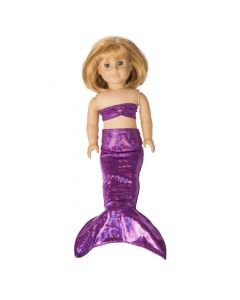 Purple Sky Doll Tail & Top - 18 inch