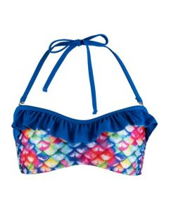 Rainbow Reef Bandeau Bikini Top - Youth XS