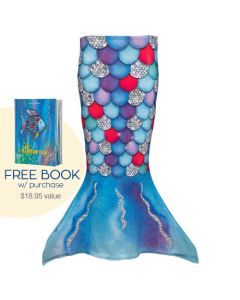 a walkable toddler tail with big beautiful scales just like the rainbow fish book