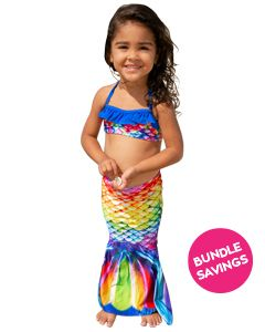 Rainbow Reef Toddler Tail & Bandeau Set