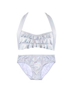 Iridescent Silver Sea Wave Bikini Set