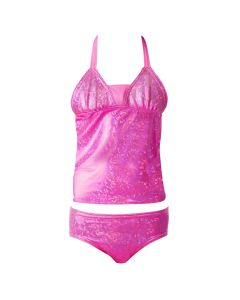 passion pink tankini set