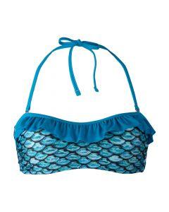 Tidal Teal Bandeau Bikini Top