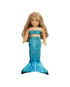 Tidal Teal Doll Tail and Top for 18 inch dolls