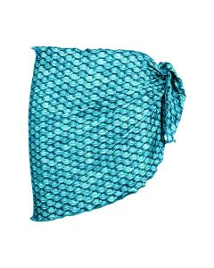 tidal teal blue mermaid sarong