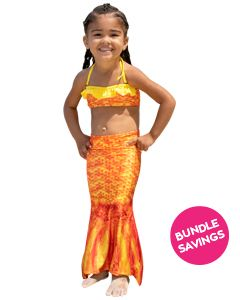 Tropical Sunrise Toddler Tail & Bandeau Set