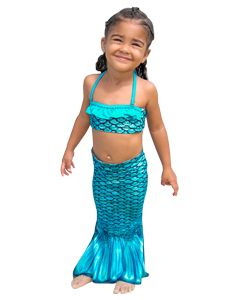 Tidal Teal Toddler Tail & Bandeau Set