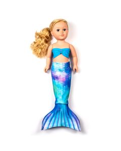 a watercolor waves mermaid tail set for a large doll