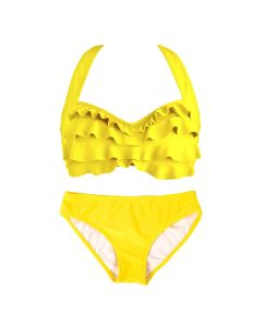 Yellow Sea Wave Bikini Set