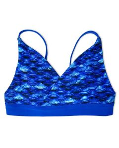 Girls Arctic Blue Reversible Bikini Top