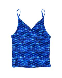 Girls Arctic Blue Tankini Top