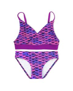 Girls Asian Magenta Bikini Set
