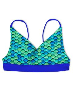 Girls Aussie Green Reversible Bikini Top