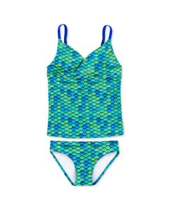 Girls Aussie Green Tankini Set
