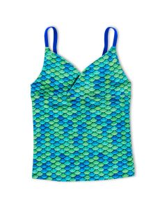 Girls Aussie Green Tankini Top