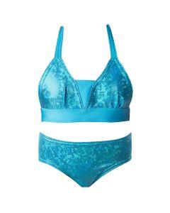 Mediterranean Sea blue bikini set