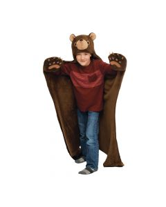 boy brown bear blanket