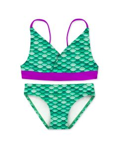 Girls Celtic Green Bikini Set