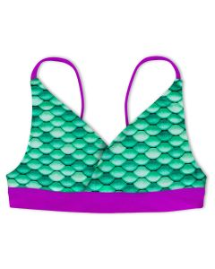 Girls Celtic Green Reversible Bikini Top