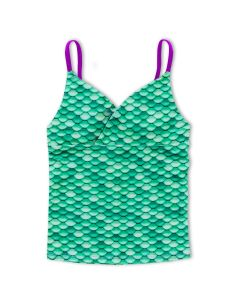 Girls Celtic Green Tankini Top