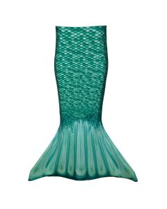 a swimmable green mermaid tail for toddlers