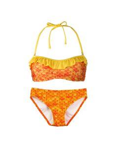 Tropical Sunrise bandeau bikini set