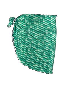 celtic green mermaid scale sarong